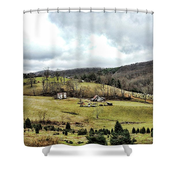 Blue Ridge Homestead Shower Curtain