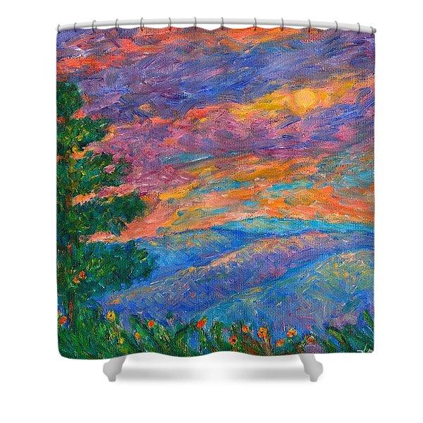 Blue Ridge Jewels Shower Curtain