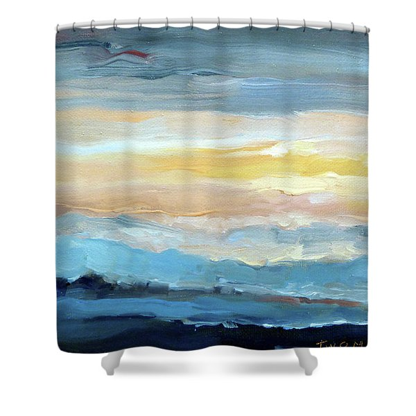 Blue Ridge Mountain Sunset 1.0 Shower Curtain