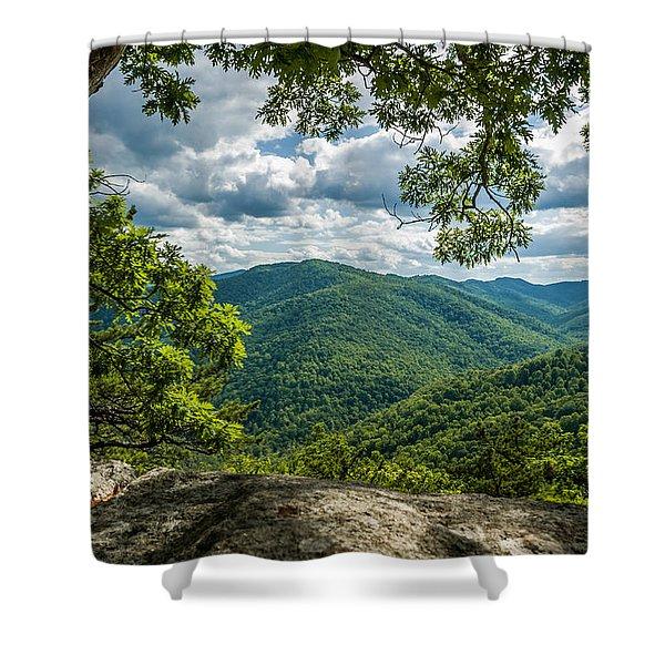 Blue Ridge Mountain View Shower Curtain