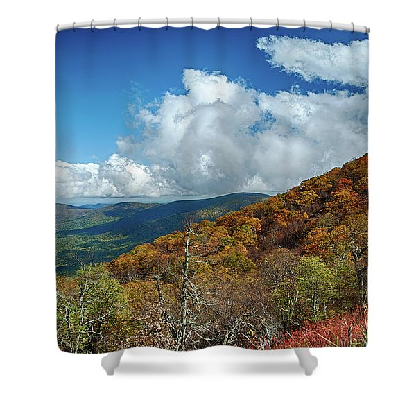 Blue Ridge Mountains In The Fall 1 Shower Curtain