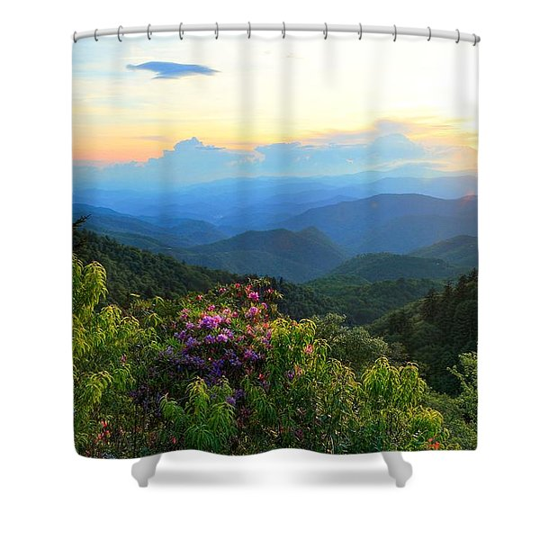 Blue Ridge Parkway And Rhododendron  Shower Curtain