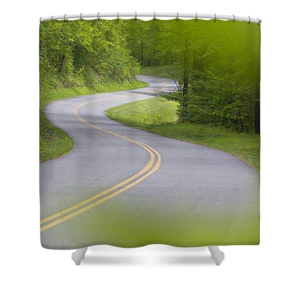 Blue Ridge Parkway Shower Curtain