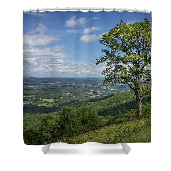 Blue Ridge Parkway Scenic View Shower Curtain