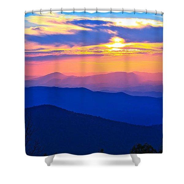 Blue Ridge Parkway Sunset, Va Shower Curtain