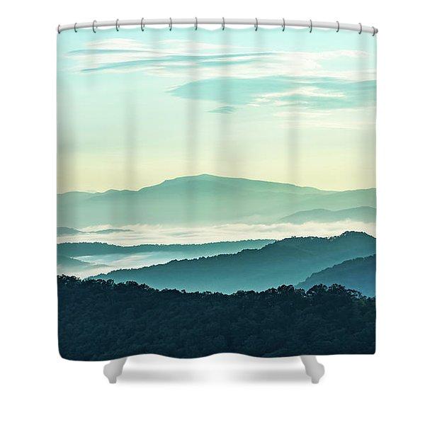 Blue Ridge Pastel Shower Curtain