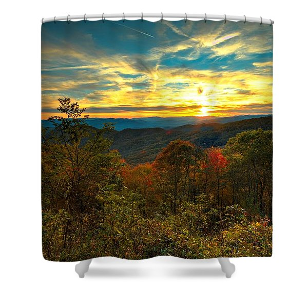 Blue Ridge Sunsets Shower Curtain