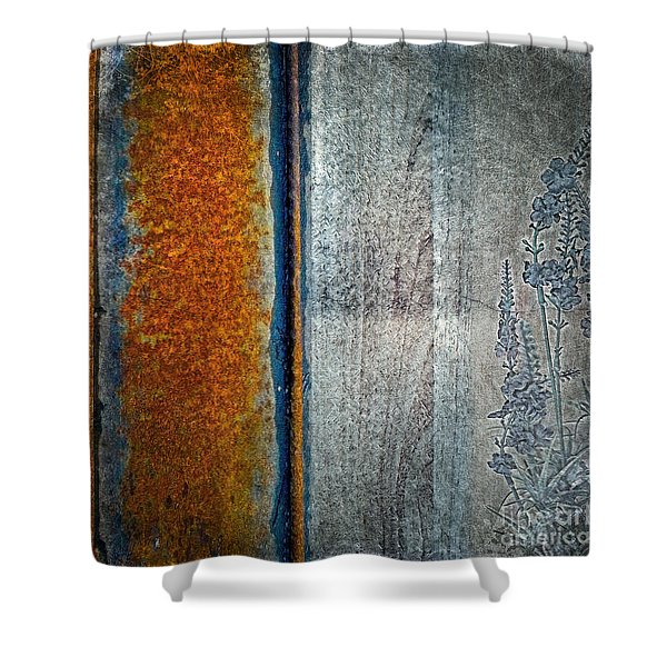 Blue Rust Shower Curtain