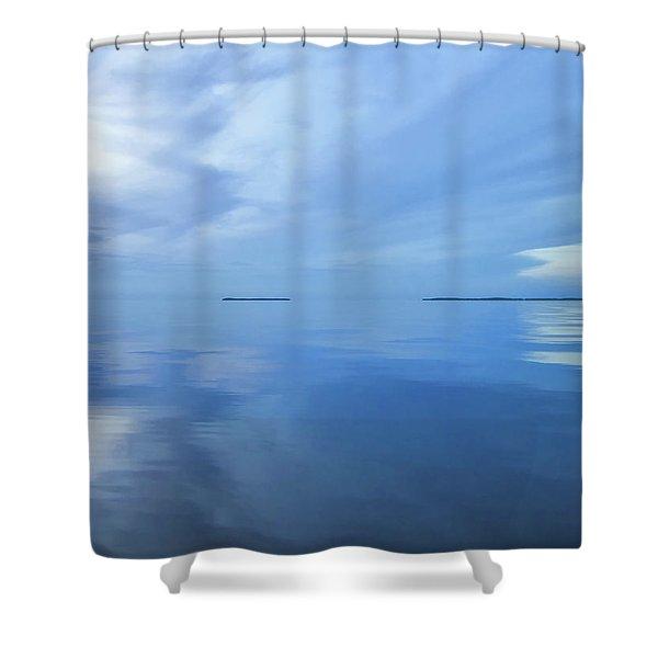 Blue Serenity Shower Curtain