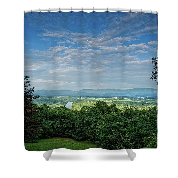 Blue Sky Blue Ridge Shower Curtain