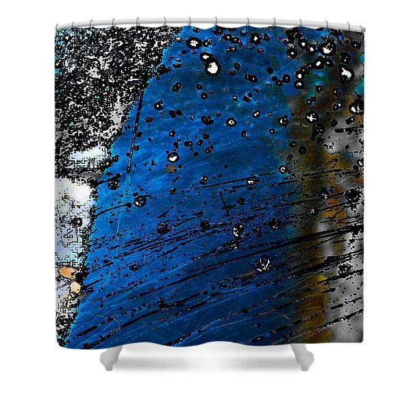 Blue Spectacular Shower Curtain
