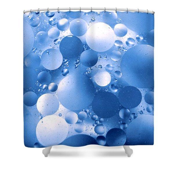Blue Sphere Flow Shower Curtain