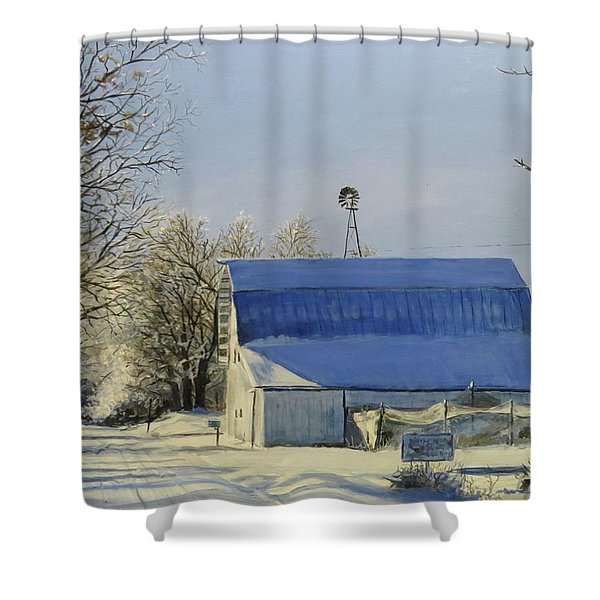 Blue Sunday Shower Curtain