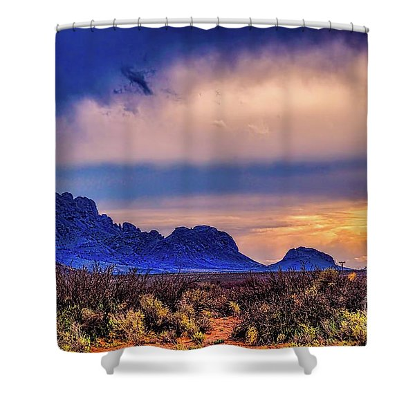 Blue Sunset Nm-az Shower Curtain