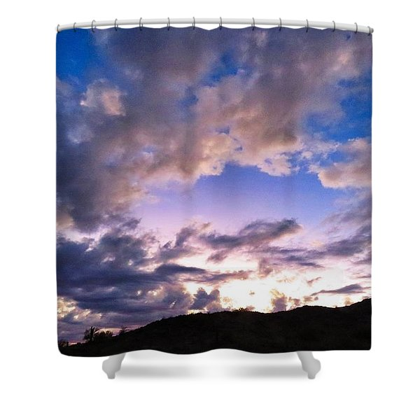 Blue Sunset Shower Curtain