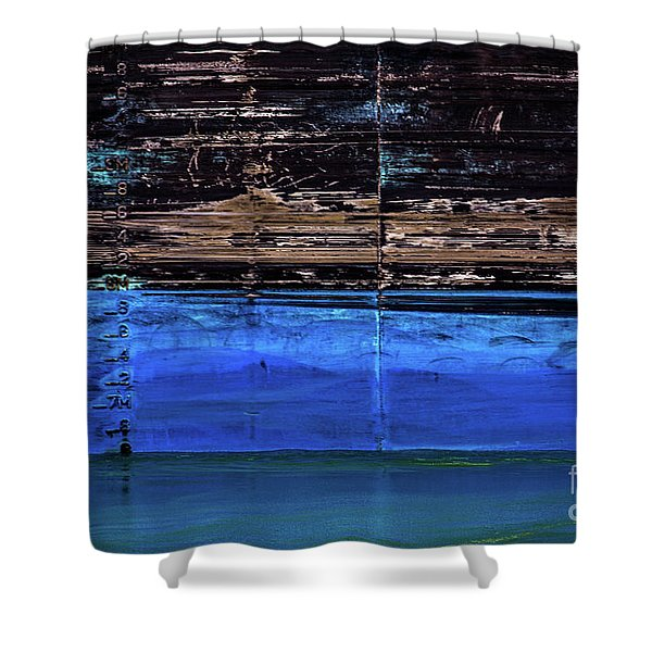 Blue Tanker Shower Curtain