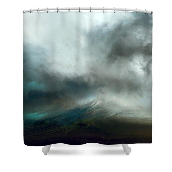 Blue Tempest Shower Curtain