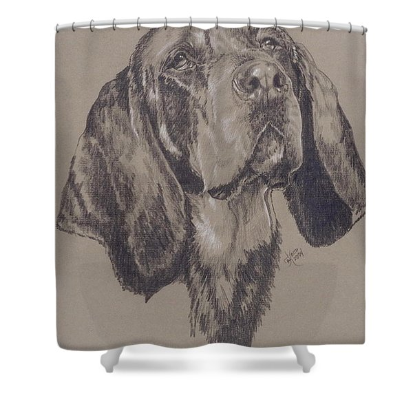 Bluetick Coonhound Shower Curtain
