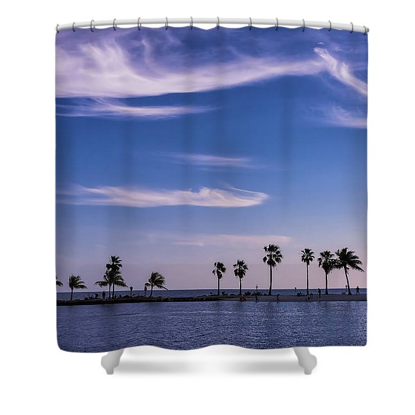 Blue Tropics Shower Curtain