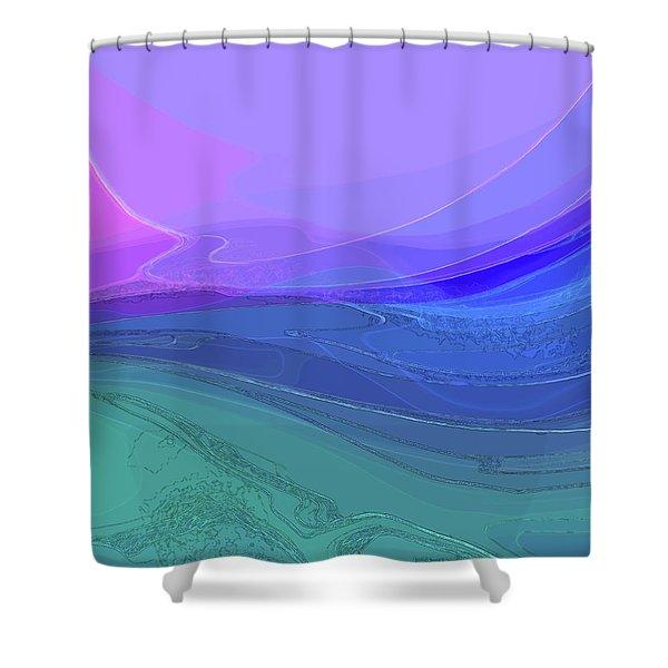 Blue Valley Shower Curtain