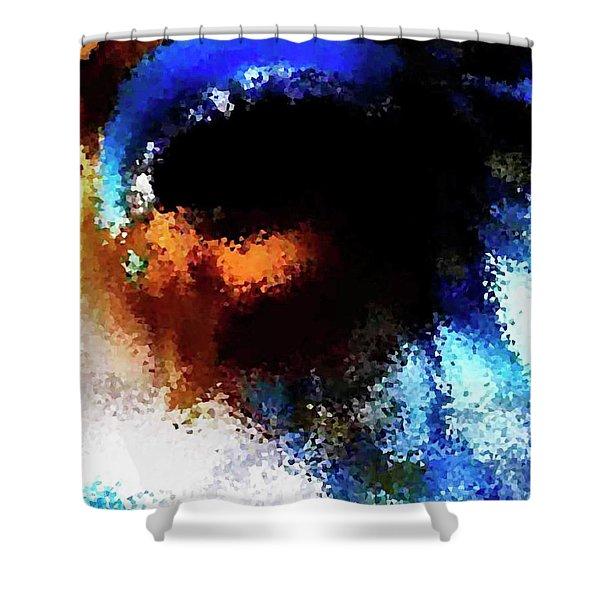 Blue Venice Mask Shower Curtain