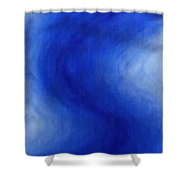 Blue Vibration Shower Curtain