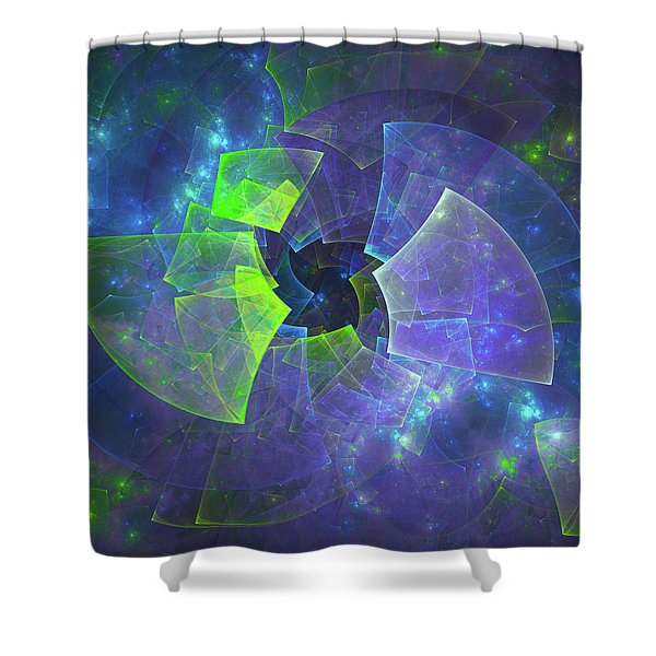 Blue Vinyl Record Music Shower Curtain