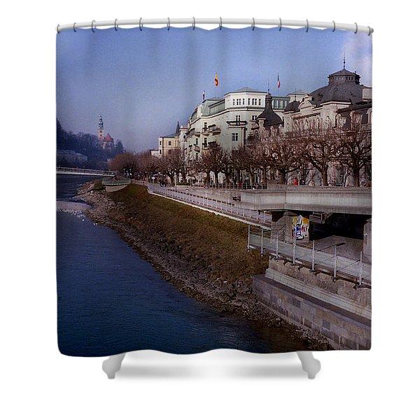 Blue Water Blue Sky Shower Curtain