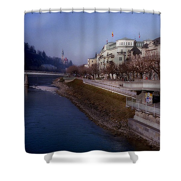 Blue Water Blue Sky Shower Curtain