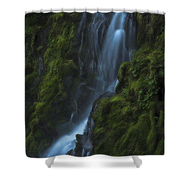 Blue Waterfall Shower Curtain