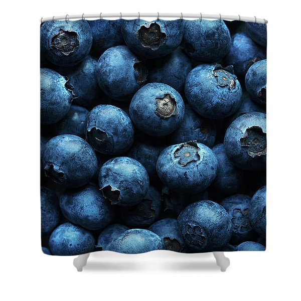Blueberries Background Close-up Shower Curtain
