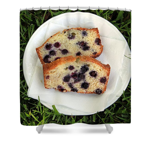 Blueberry Bread Shower Curtain