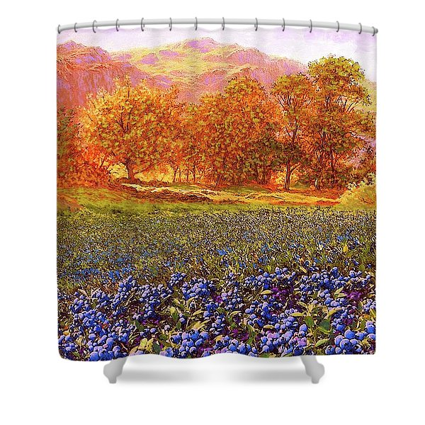 Blueberry Fields Season Of Blueberries Shower Curtain