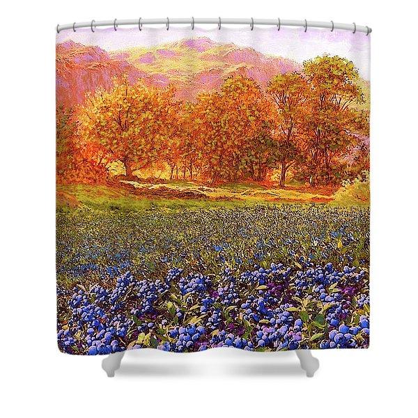 Blueberry Fields Season Of Blueberries Shower Curtain