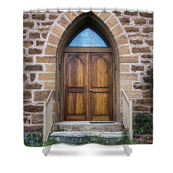 Bluebonnet Door Shower Curtain