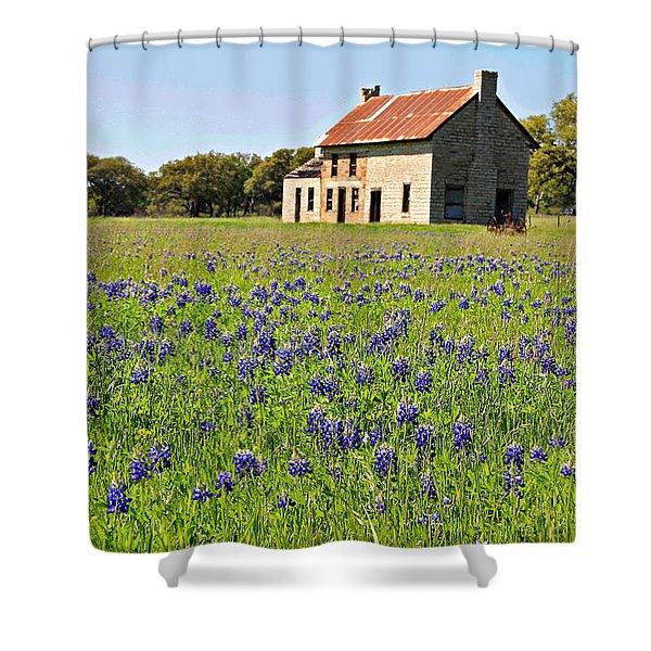 Bluebonnet Field Shower Curtain