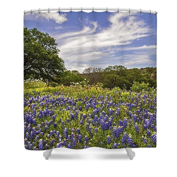 Bluebonnet Spring Shower Curtain