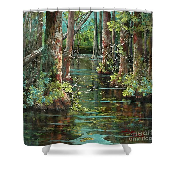 Bluebonnet Swamp Shower Curtain