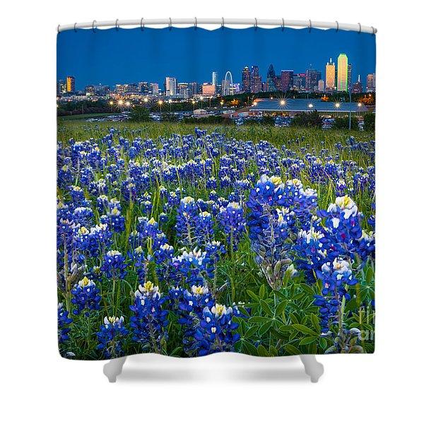 Bluebonnets In Dallas Shower Curtain