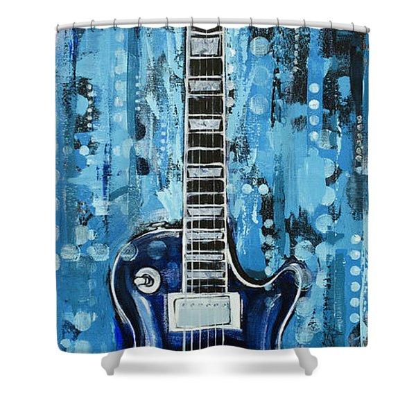 Blues Guitar Shower Curtain