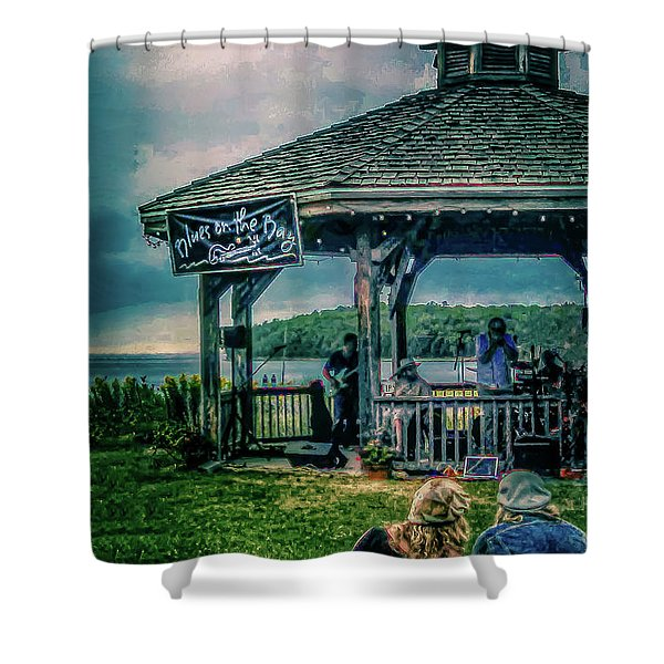 Blues On The Bay Shower Curtain