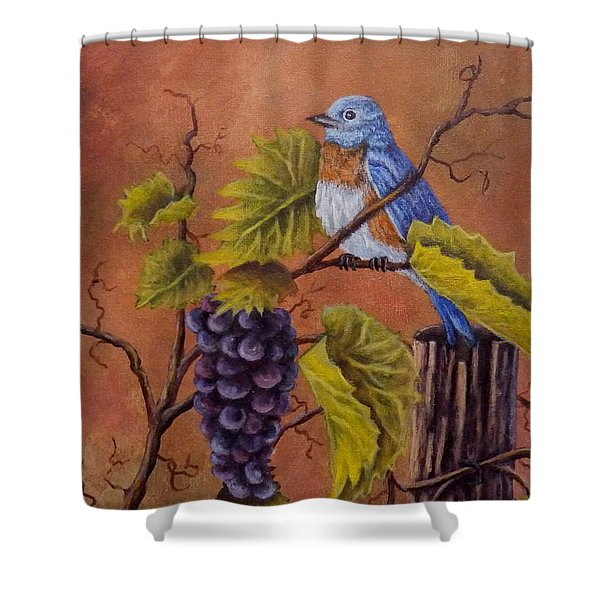 Bluey And The Grape Vine Shower Curtain
