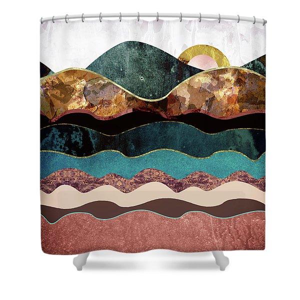 Blush Moon Shower Curtain