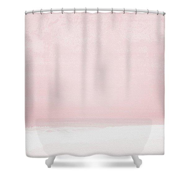 Blush Sunset- Art By Linda Woods Shower Curtain