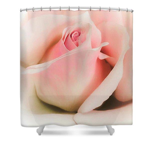 Blushing Petals Shower Curtain