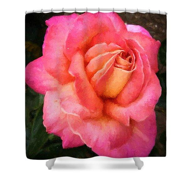 Blushing Rose Shower Curtain