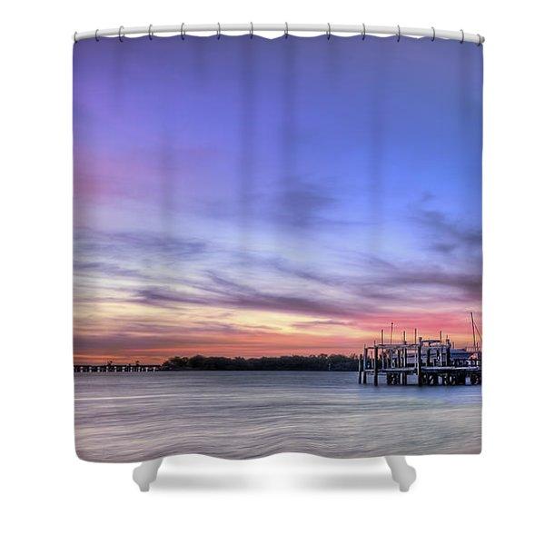 Blushing Skies Shower Curtain