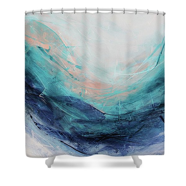 Blushing Sky Shower Curtain