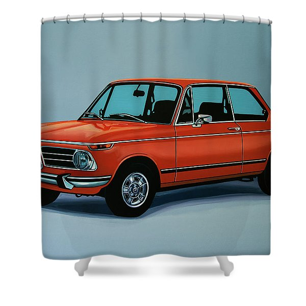 Bmw 2002 1968 Painting Shower Curtain