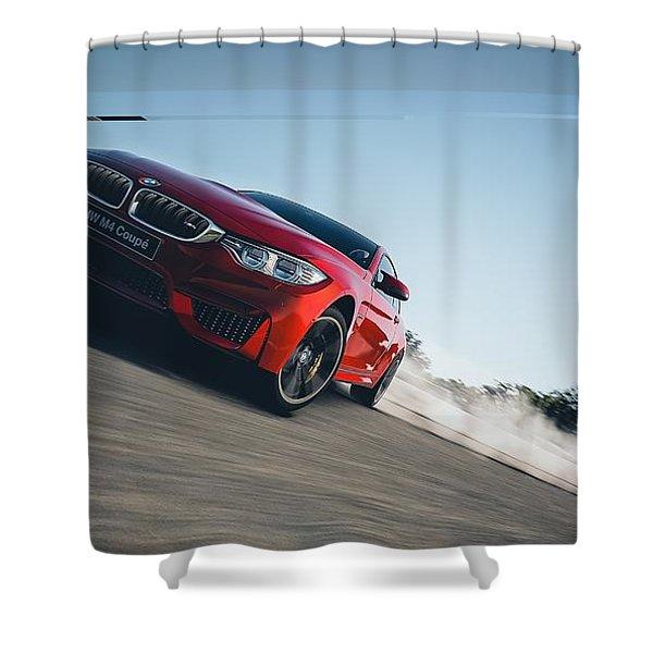 Bmw M4 Shower Curtain